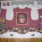 Black Eyed Susan Flower Pot Bee Garden Quilt Look Applique Vest