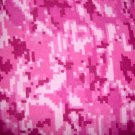Hot Dark Light Pink Digital Camoflauge Cotton Flannel Fabric