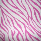 Tiger Zebra Animal Pink White Print Cotton Flannel Fabric