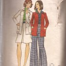 Butterick 3039 Vintage Princess Seam Jacket Wide Leg Pants Skirt Pattern Size 14 CUT