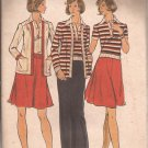 Butterick 3812 Classic Vintage Cardigan Jacket Top Skirt Pants Pattern Size 14 UNCUT