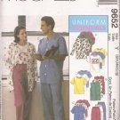 McCalls 9652 (1998) Unisex Uniform Scrubs Jacket Vest Shirt Pull-on Pants Pattern Size S M L UNCUT