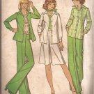 McCalls 4402 (1975) Vintage Front Pleat Skirt Wide Leg Pants Pattern Size 14 CUT