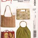 McCalls 4904 (2005) Lined Handbag Purse Tote Pocketbook Pattern CUT