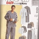 McCalls 4244 (2003) Mens Robe Belt Pajama Top Pants Sleep Shorts Pattern Size S M L PART CUT