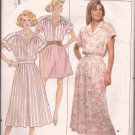 Butterick 4692 (1987) Short Cuff Sleeve Shirt Pleated Wide Leg Shorts Skirt Pattern Size 14 CUT