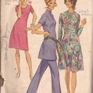 Simplicity 9503 (1971) Vintage Dress Tunic Neck Variations Pants Pattern Size 14 CUT