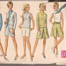 Simplicity 7548 (1968) Vintage Jacket Skirt Split Inverted Pleats Shorts Blouse Pattern Size14 CUT