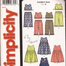 Simplicity 5501 (2003) Toddler Girls Dress Midi Top Ruffle Pants Pattern Size 1/2 1 2 3 4 PART CUT