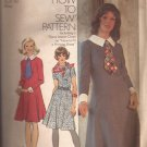 Simplicity 5152 (1972) Vintage Princess Seam Round Neck Back Zip Dress Pattern Size 18 CUT