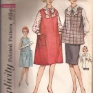 Simplicity 4641 (1960s) Vintage Maternity Dress Jumper Top Skirt Pattern Size 12 CUT
