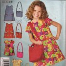 Simplicity 4927 (2004) Girls Dress Shoulder Bag Pattern Size 3 4 5 6 7 8 CUT to 8