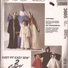 McCalls 3885 (1988) Adult Wizard King Queen Ghost Angel Costume Pattern CUT