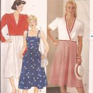 Butterick 6431 Asymmetrical Jacket Shoulder Strap Fitted Bodice Flare Skirt Pattern 14 16 18 UNCUT