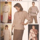 Butterick 6313 Pullover Dress Top Elastic Waist Skirt Pants Shawl Pattern Size 12 14 16 UNCUT