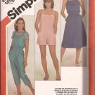Simplicity 5981 (1983) Elastic Waist Overalls, Romper Sundress Jumper Pattern Size 12 14 16 UNCUT