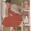 Simplicity 6744 (1984) Front Pleat Pants Skirt Square Neck Top Unlined Jacket Pattern Size 18 UNCUT