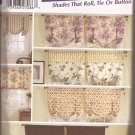 Simplicity 5390 (2003) Roll Tie Button Window Shades Curtains Drapes Pattern UNCUT