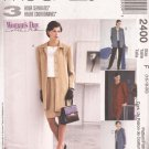 McCalls 2400 (1999) Unlined Jacket Coat Pull-on Pants Skirt Pattern Size 16 18 20 UNCUT