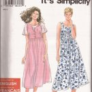 Simplicity 9581 (1995) Round Neck Bodice Button High Waist Dress Pattern Size XS S M L XL UNCUT