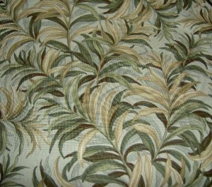 Maui by Waverly Green Tan Palm Fronds Home Decor Fabric