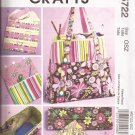McCalls 5722 (2008) Knitting Tote Pouch Organizer Satchel Pattern UNCUT