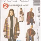 McCalls 9576 (1998) 2 Hour Reversible Jacket Coat Pattern Size L XL 16 18 20 22 UNCUT
