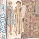 McCalls 5940 (1978) Vintage Zip Front  House Dress Robe Pattern Size Medium 14 16 CUT