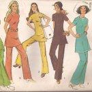 Simplicity 9514 (1971) Vintage Tunic Top Back Zip Elastic Pants Pattern  Size 10 UNCUT