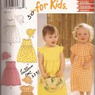 New Look 6192 Infant Toddler Girls Childs Sun Dress Hat Bonnet Cap Pattern Size NB S M L UNCUT