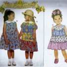 Butterick 3916 (1995) Girls Childs Tier Ruffle Dress Ponytail Tie Pattern Size 2 3 4 UNCUT