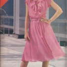 Butterick 3804 Mock Front Wrap Neck Flounce Elastic Waist Dress Pattern Size 14 16 18 UNCUT