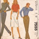 McCalls 7555 (1981) Jean Pants Skirt Pattern Personalized Instructions Size 16 UNCUT