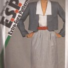 Simplicity 6293 (1983) Slim Skirt Sleeveless Blouse Unlined Jacket Pattern Size 12 14 16 PART CUT