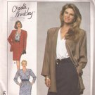 Simplicity 9361 (1989) Christie Brinkley Jiffy Dress Unlined Jacket Pattern CUT to Size 18