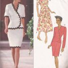 Butterick 6142 (1992) Asymmetrical Top Straight Flared Pleats Skirt Pattern Size 12 14 16 CUT
