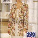 Butterick 3535 (1994) Unlined Jacket Straight Pullover Sleeveless Dress Pattern Size 18 CUT