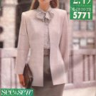 Butterick (5771) 1991) Petite Jacket Blouse Top Straight Skirt Tie Pattern Size 18 CUT