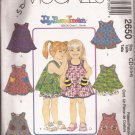 McCalls 2650 (2000) Child Girls Dress Top Pull On Shorts Pattern Size 2 3 4 PART CUT
