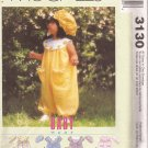 McCalls 3130 (2001) Infants Girls Romper Dress Panties Hat Pattern Size S M L XL UNCUT