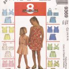 McCalls 9369 (1998) Childs Girls Halter Top Shorts Skort Pattern Size 10 12 14 CUT
