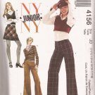 McCalls 4156 (2003) Junior Teen Girls Tops Skirt Pants Pattern 11/12 13/14 15/16 17/18 CUT