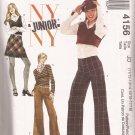McCalls 4156 (2003) Junior Teen Girls Tops Skirt Pants Pattern 11/12 13/14 15/16 17/18 CUT