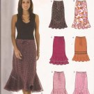 New Look 6463 (2005) Elastic Belt Tie Waist Skirt Flounce Ruffle Pattern Size 8 10 12 14 16 18 UNCUT