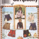 Simplicity 7366 (1996) Girls Lined Vest Front Button Appliques Pattern Size 2, 3, 4 UNCUT