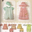 Simplicity 4243 (2006) Infants Romper Dress Top Panties Hats Pattern Size XXS XS S M L UNCUT