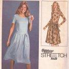 Simplicity 8621 (1978) Vintage Pullover Dress Round Neck Tie Belt Pattern Size 12 14 16 UNCUT