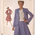 Simplicity 7451 (1986) Unlined Jacket Flared Elastic Waist Skirt Pattern Size 14 UNCUT