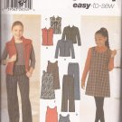 Simplicity 4839 (2000) Girls Jacket Vest Pants Jumper Pattern Size 7 8 10 12 14 16 PART CUT