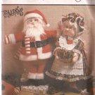 Simplicity 7067 (1985) Mr. Mrs. Santa Claus Soft Stuffed Scuptured Dolls Clothes Pattern UNCUT